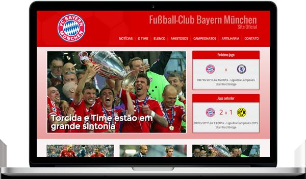 Template vermelho criar site para time de futebol