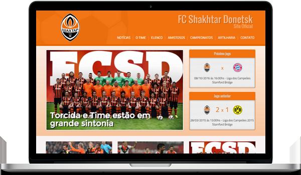 Template laranja criar site para time de futebol