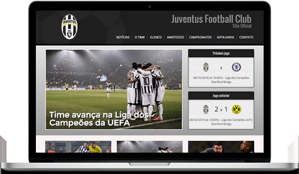 Template preto criar site para time de futebol