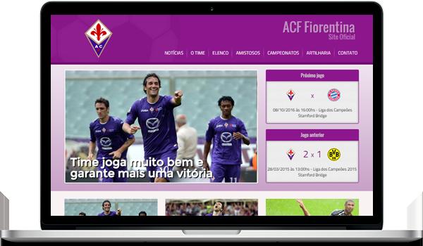 Template roxo criar site para time de futebol